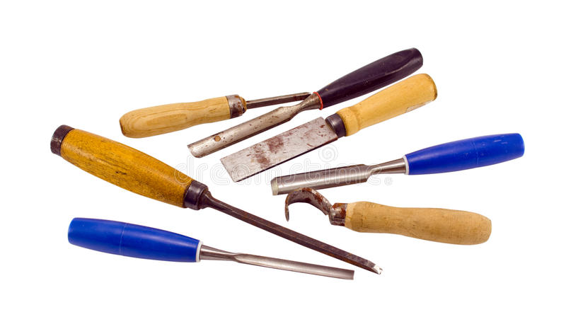 Chisel Graver Carve Tools Collection On White Royalty Free Stock Photo