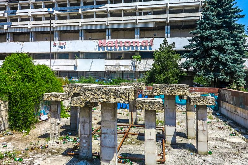 Chisinau Abandoned Fountain royalty free stock photography