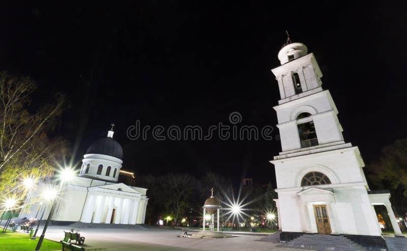 Chisinau dans la nuit images libres de droits