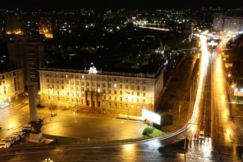 Chisinau en noche imagen de archivo libre de regalías