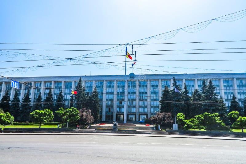 Chisinau enhetsfyrkant 02 arkivbilder