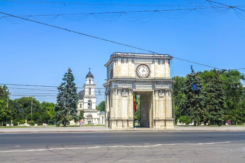Chisinau enhetsfyrkant 03 arkivfoto