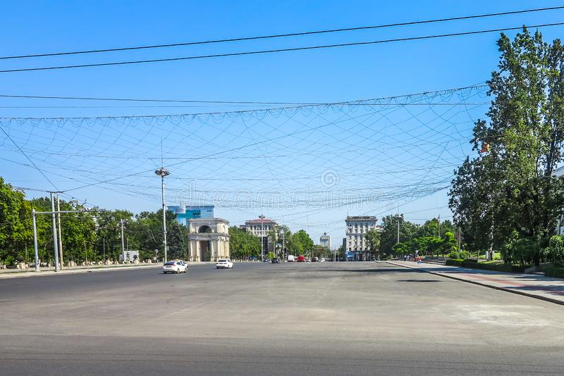 Chisinau enhetsfyrkant 08 royaltyfri bild