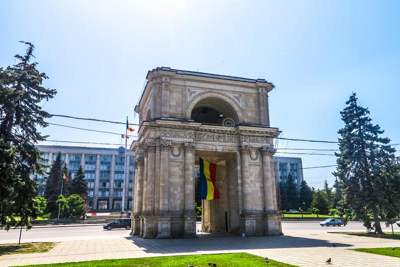 Chisinau enhetsfyrkant 01 arkivbild