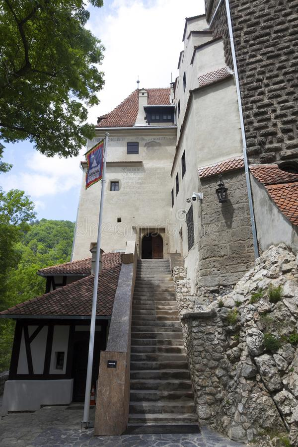Legendary Castle, Dracula Residence in Transylvania, Romania royalty free stock image