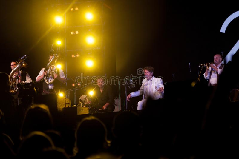 Concert by the Bosnian musician and composer Goran Bregovic in f royalty free stock photography
