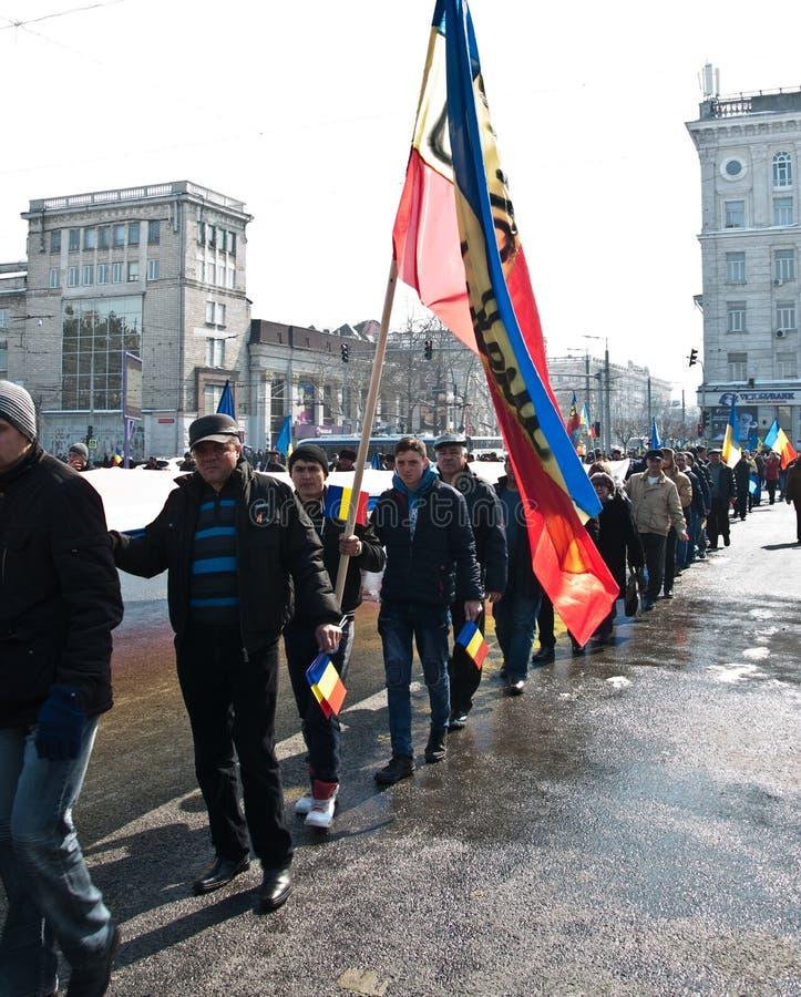 Chisinau, república de Moldova, março, 25o, 2018, grande conjunto centenário imagens de stock royalty free