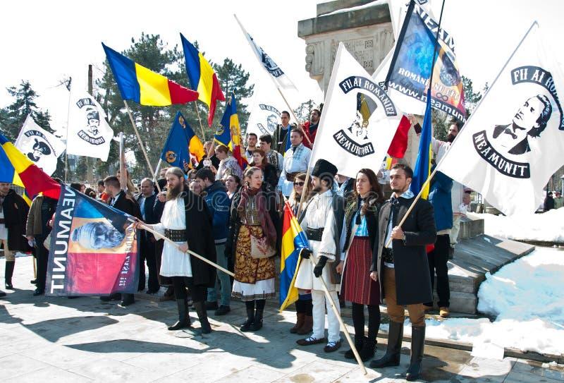Chisinau, República del Moldavia, marzo, 25to, 2018, gran asamblea centenaria imagen de archivo