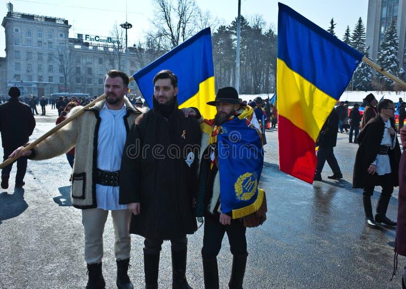 Chisinau, República del Moldavia, marzo, 25to, 2018, gran asamblea centenaria imagen de archivo libre de regalías
