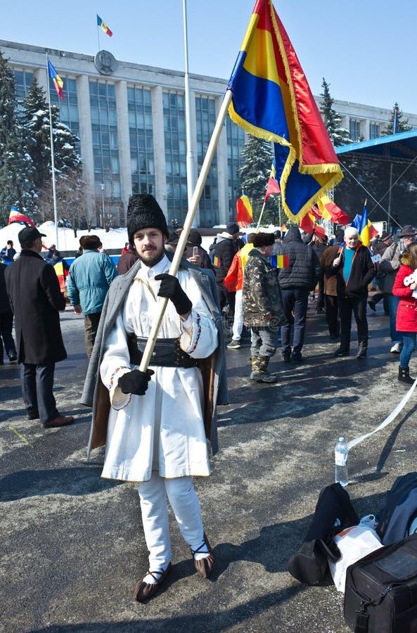 Chisinau, República del Moldavia, marzo, 25to, 2018, gran asamblea centenaria fotos de archivo libres de regalías