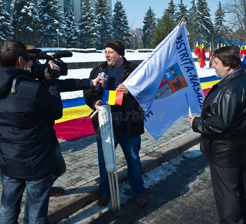 Chisinau, Repubblica di Moldavia, venticinquesimo marzo, 2018, grande Assemblea centenaria immagine stock