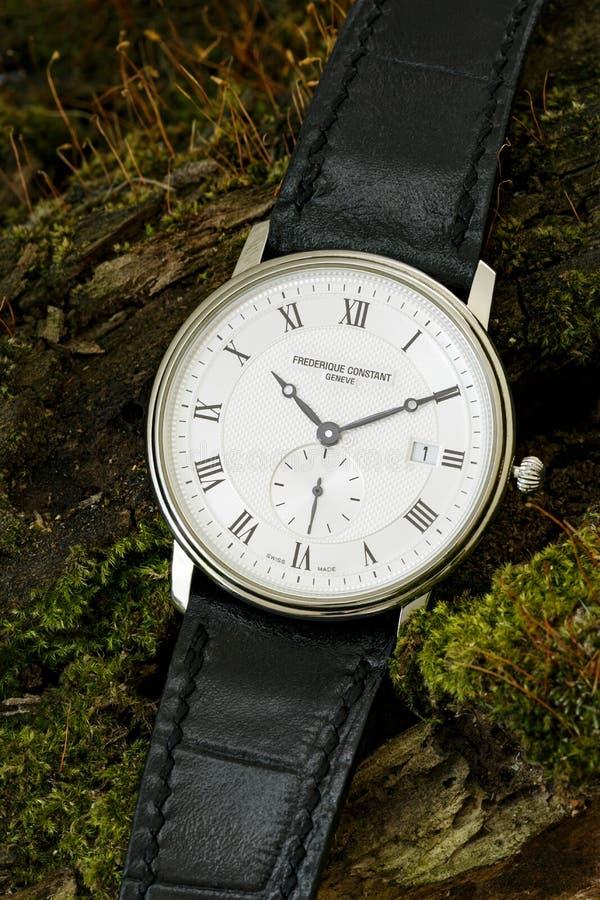 Chisinau, Republiek Moldavië - 02 Augustus, 2019: Klassiek Zwitsers horlogebedrijf royalty-vrije stock afbeelding