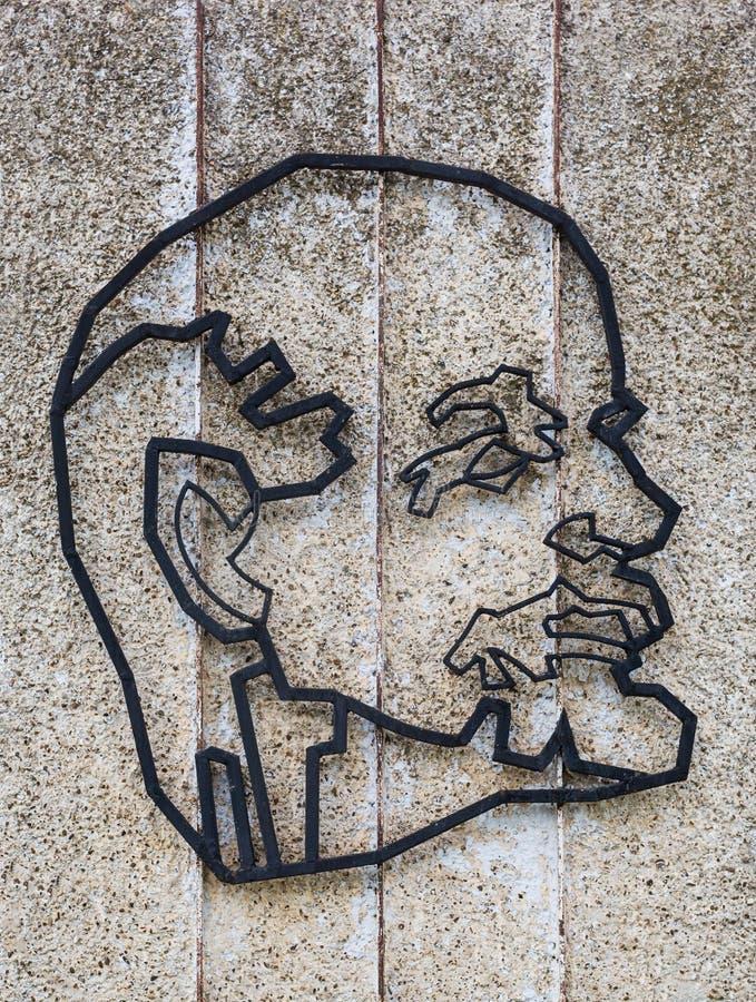 Chisinau, republika Moldova, Maj - 5, 2019: Symbole USSR: Lenin - ideolog ogólnospołeczni i polityczni pomysły obrazy stock