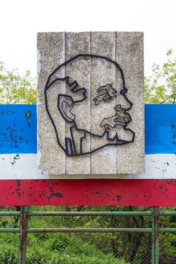 Chisinau, republika Moldova, Maj - 5, 2019: Symbole USSR: Lenin - ideolog og?lnospo?eczni i polityczni pomys?y obraz royalty free