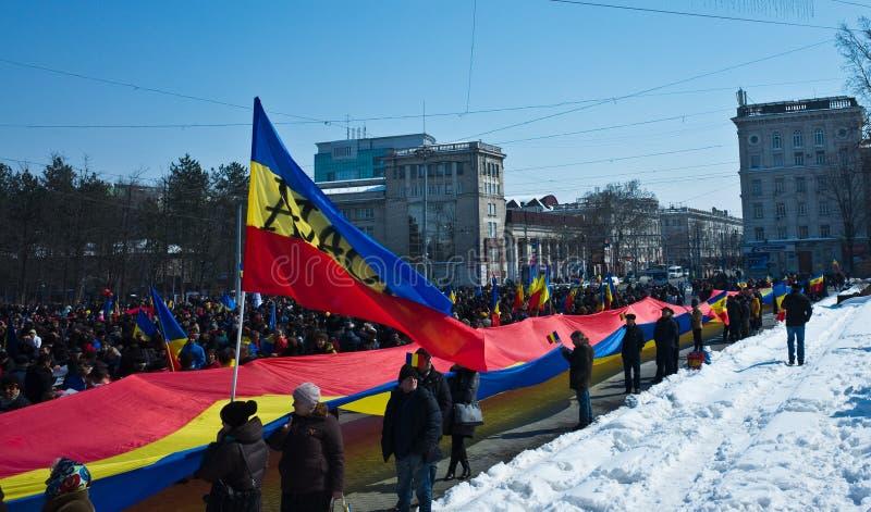 Chisinau, republika Moldova, Marzec, 25th, 2018, Wielki stulecie zgromadzenie zdjęcia royalty free