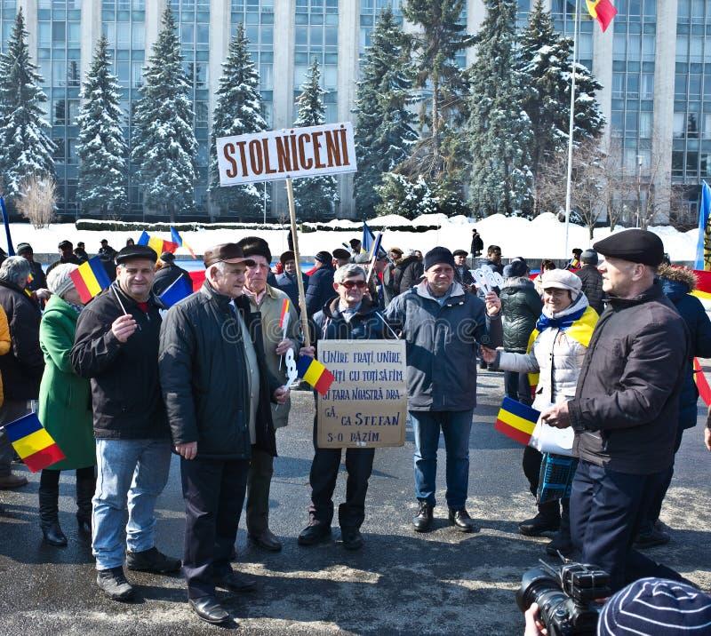 Chisinau, republika Moldova, Marzec, 25th, 2018, Wielki stulecie zgromadzenie zdjęcie royalty free