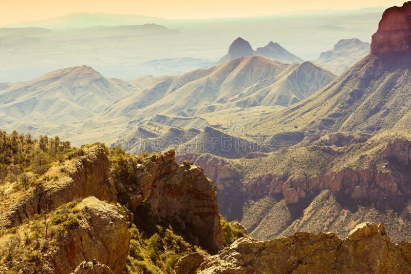 Chisos山大弯曲国家公园得克萨斯美国 免版税库存图片