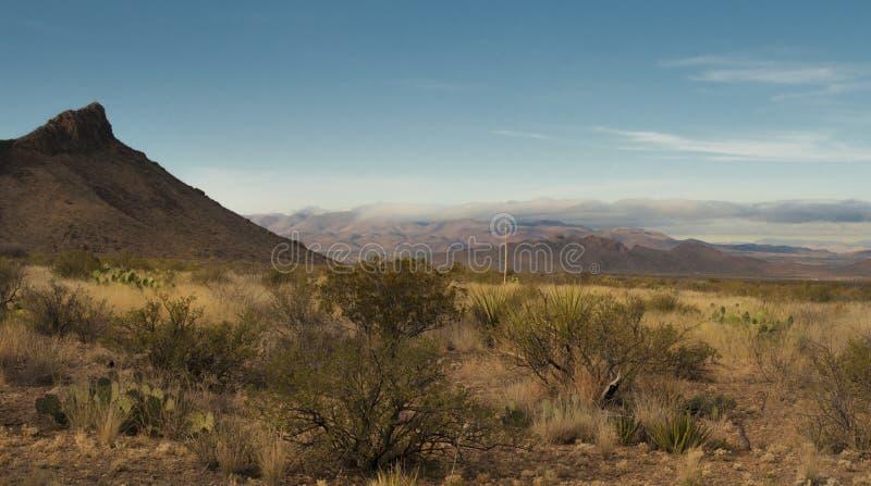 Chisos berg i stor krökning fotografering för bildbyråer