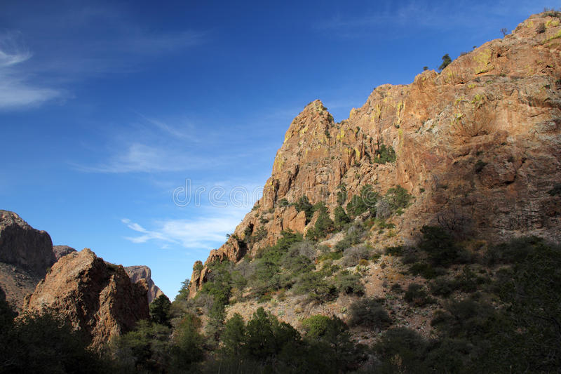 Chisos berglandskap arkivbilder