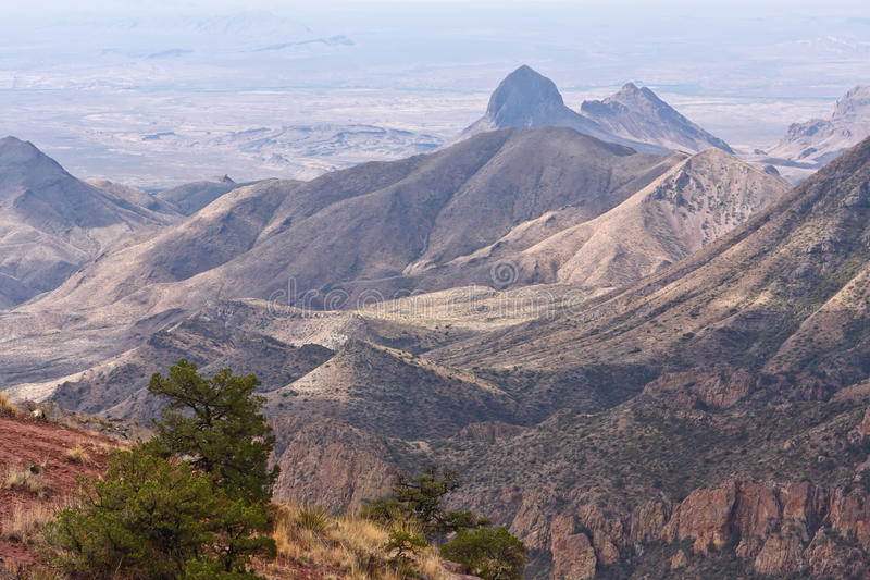 Chisos Mountains. USA, Texas,Big Bend Nat. Park. The Chisos Mountains while walking the Lost Mine Trail. It is a climb of 330 m and the walk is 4,5 km upwards royalty free stock photography