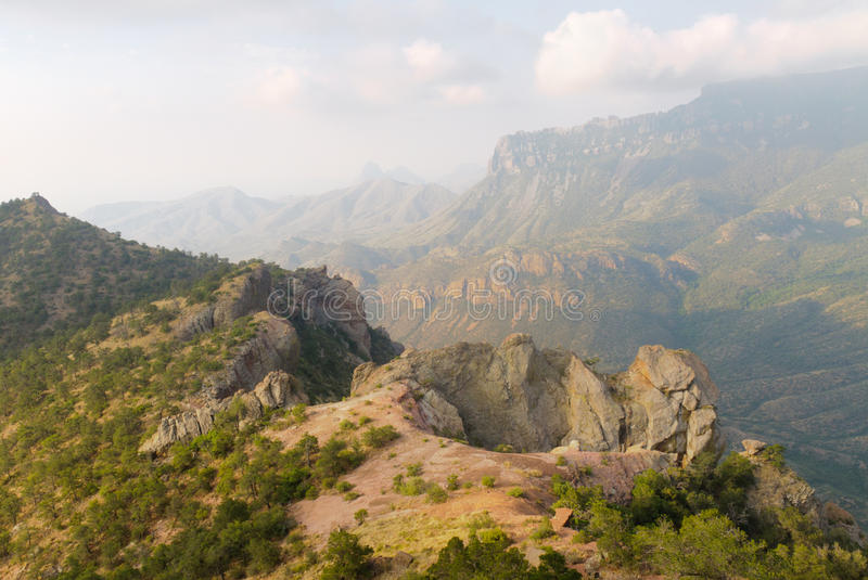 Chisos Mountains. Lost Mine Trail in the Chisos Mountains stock image