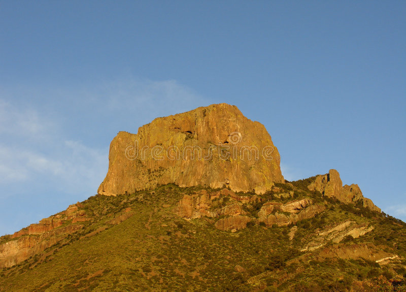 Chisos Mountains. At sunset in Big Bend national park royalty free stock images