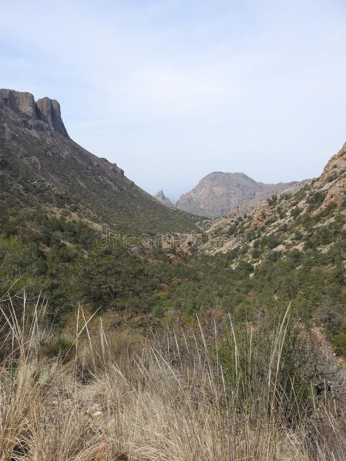 Chisos Mountains, Big Bend National Park. Chisos Mountains on the Lost Mine Trail in Big Bend National Park, Texas royalty free stock photos