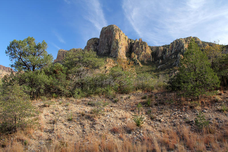 Chisos Mountains Landscape. In Big Bend National Park, Texas stock photo