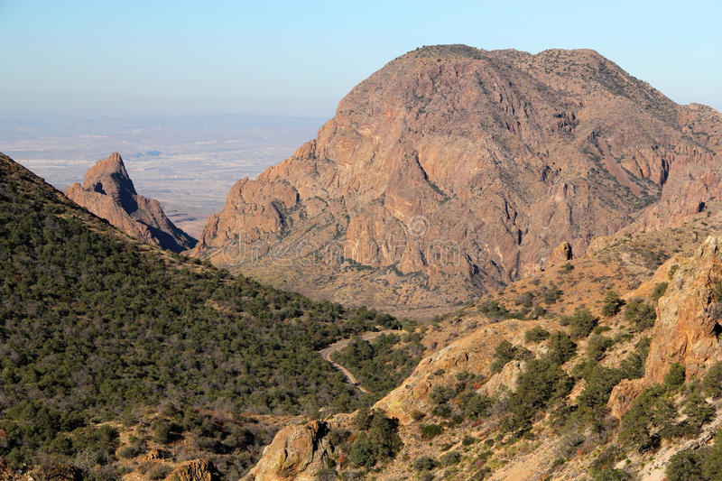 Chisos Mountains Landscape. In Big Bend National Park, Texas stock images