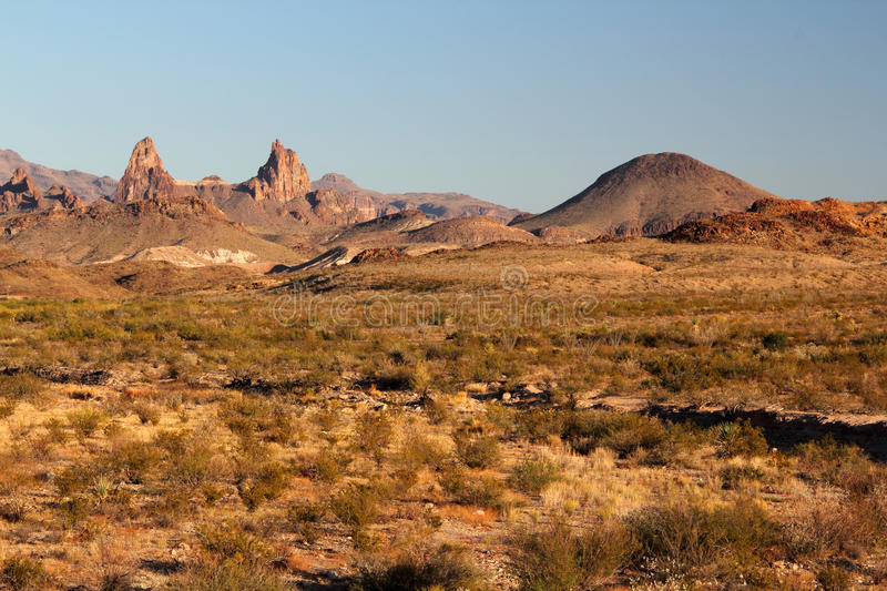 Chisos Mountains Landscape. In Big Bend National Park, Texas royalty free stock image