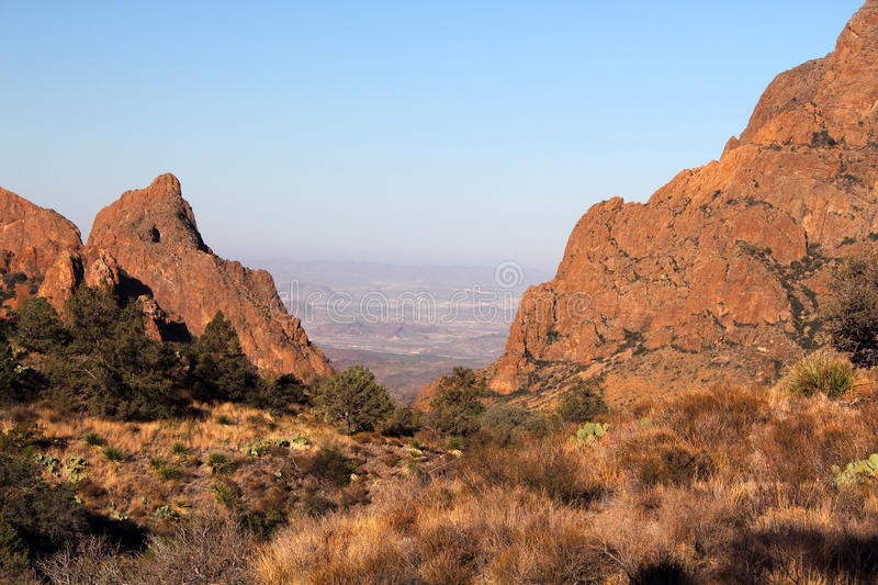 Chisos Mountains Landscape. In Big Bend National Park, Texas stock photos