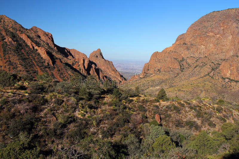 Chisos Mountains Landscape. In Big Bend National Park, Texas stock image