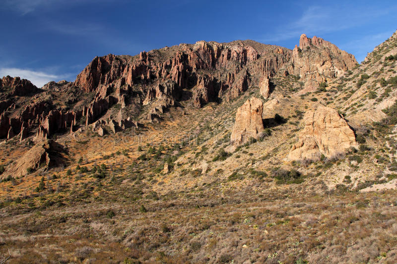 Chisos Mountains Landscape. In Big Bend National Park, Texas stock photography