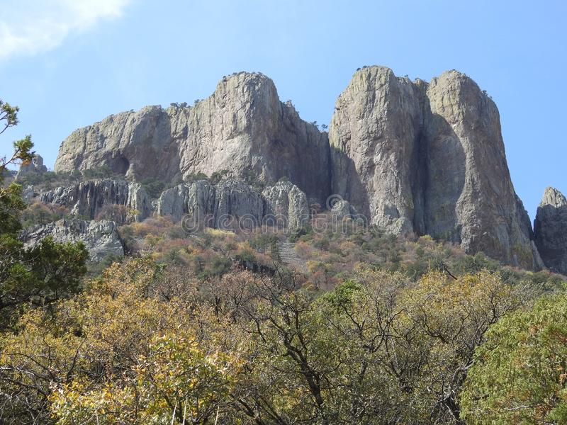 Chisos Mountains, Big Bend National Park. Chisos Mountains on the Lost Mine Trail in Big Bend National Park, Texas stock photography