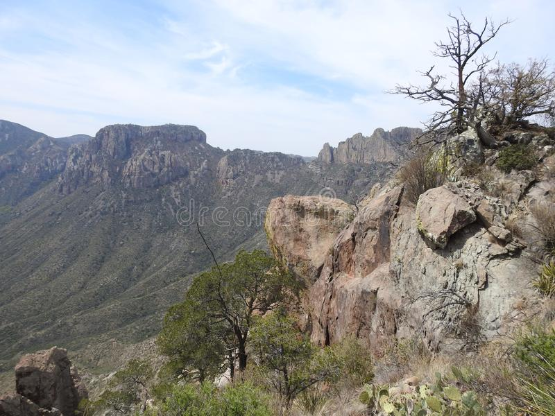 Chisos Mountains, Big Bend National Park. Chisos Mountains on the Lost Mine Trail in Big Bend National Park, Texas stock image