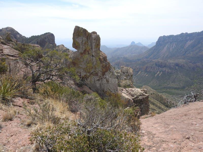Chisos Mountains, Big Bend National Park. Chisos Mountains on the Lost Mine Trail in Big Bend National Park, Texas stock photo