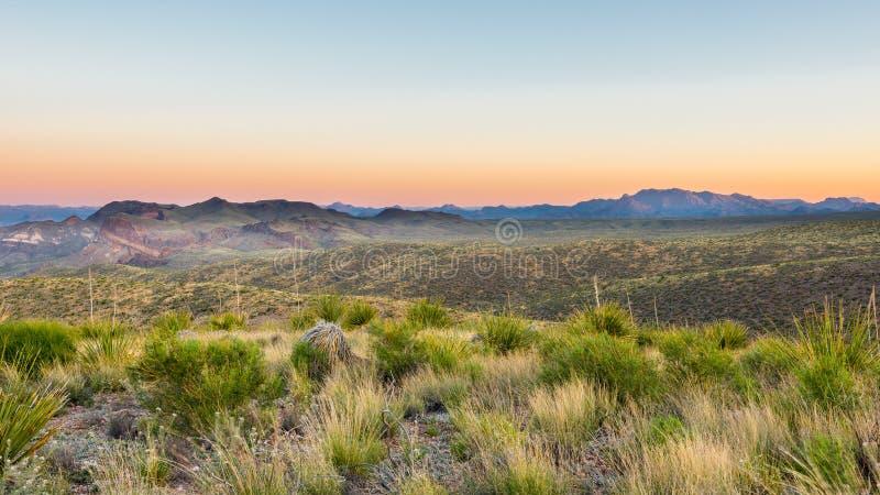 Chisos Mountains, Sotol Vista, Big Bend National Park, TX royalty free stock image