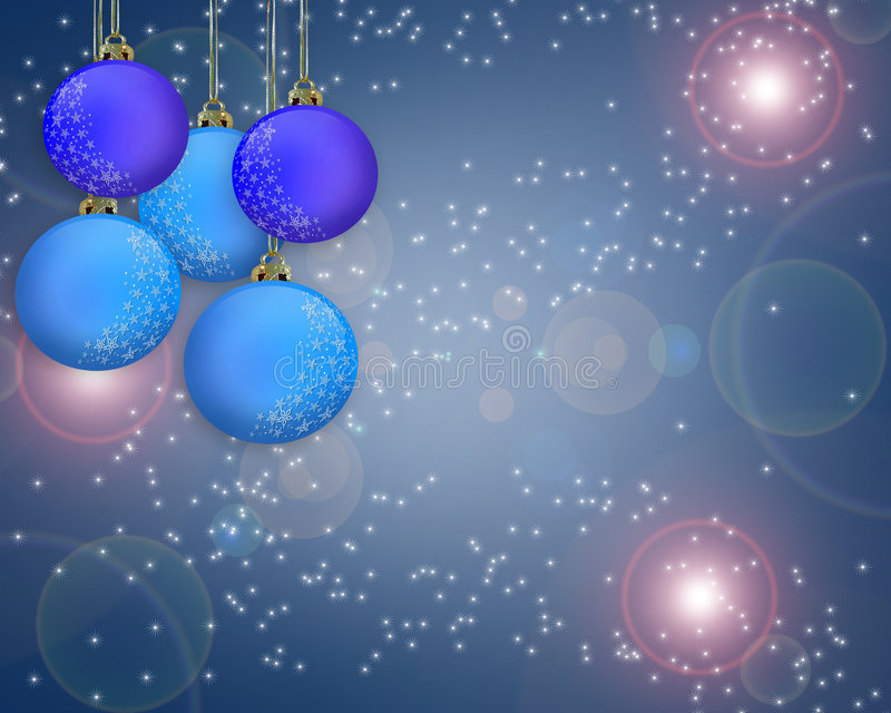 Chispa azul del fondo de la Navidad ilustración del vector