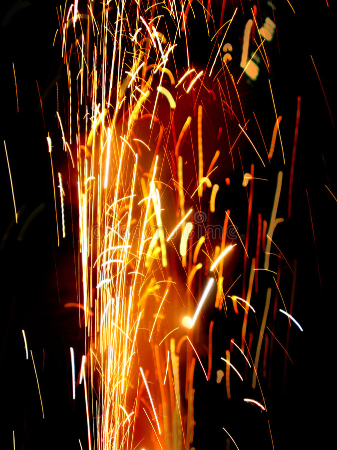 Chispa de Craker del fuego fotografía de archivo libre de regalías