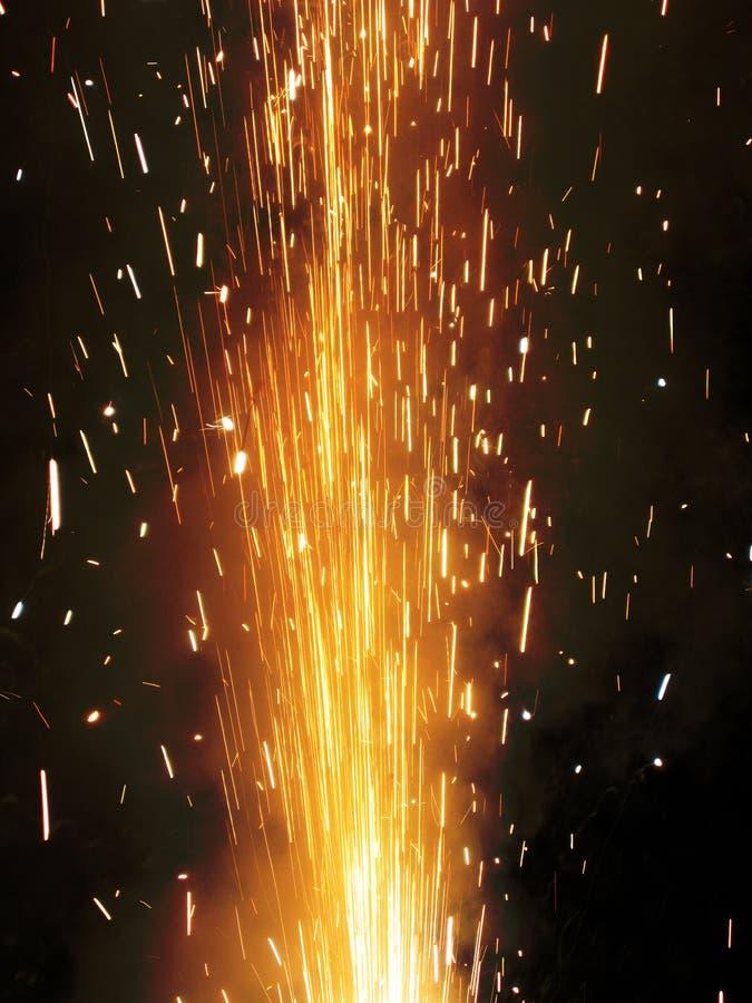 Chispa de la galleta del fuego fotografía de archivo