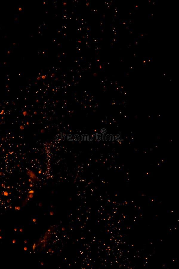 Chispas abstractas del fuego del backgoundof. foto de archivo libre de regalías
