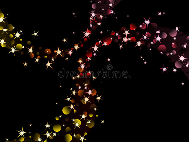 Chispas de la noche, colores calientes libre illustration