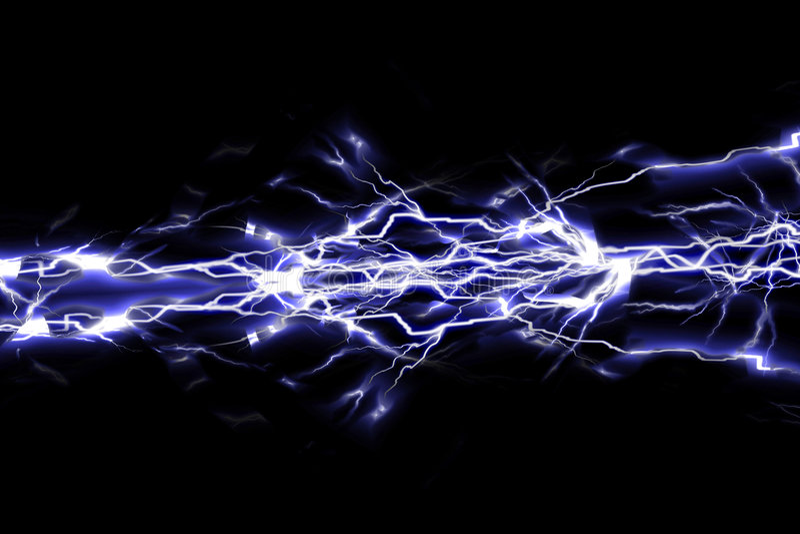 Chispas eléctricas ilustración del vector
