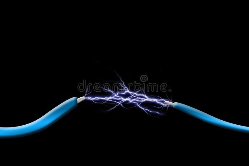Chispas entre dos alambres libre illustration