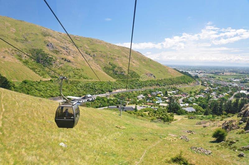 Chistchurst gondola. In New Zealand stock photos