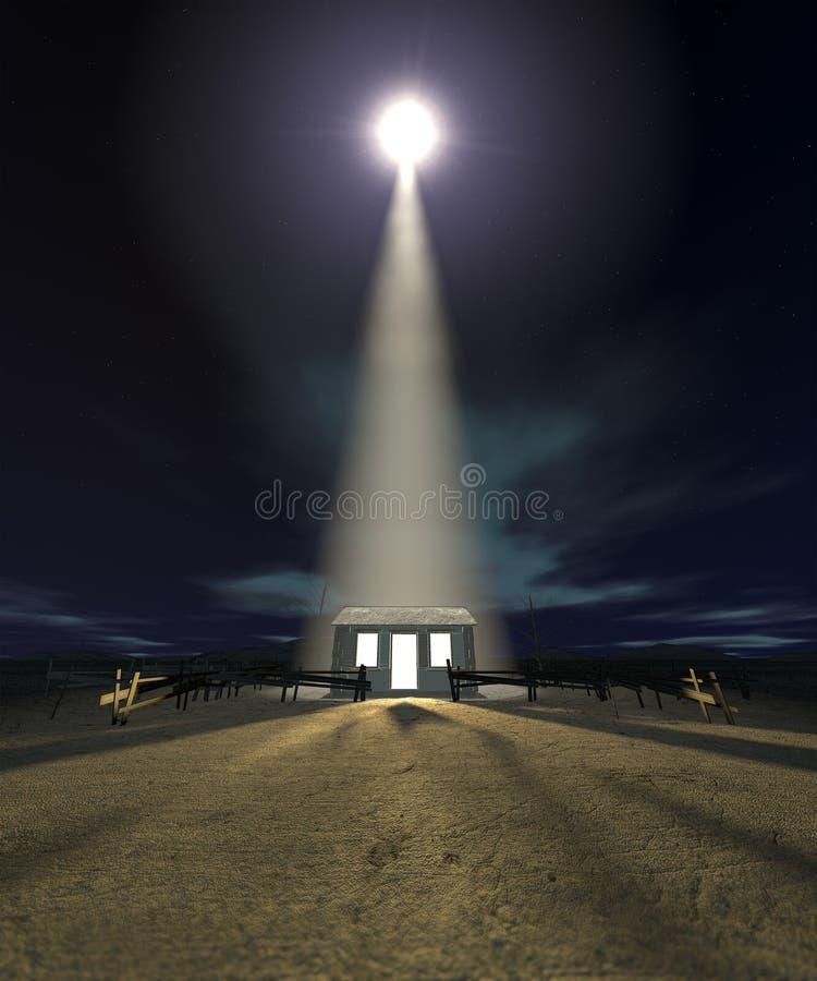 Chistmas stajenka W Betlejem zdjęcie royalty free
