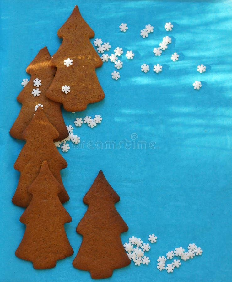 Chistmasbomen van peperkoekkoekjes met copyspace royalty-vrije stock fotografie