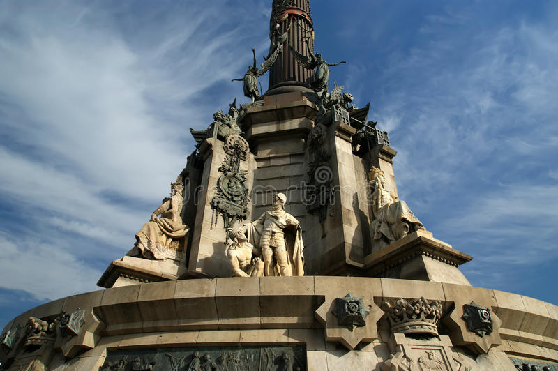 Chistopher Columbus Monument In Barcelona Royalty Free Stock Images
