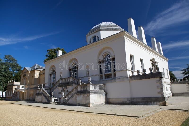 Chiswick议院是在伯灵屯车道, Chiswick的一栋Palladian别墅,在豪恩斯洛伦敦自治市镇在英国 库存照片