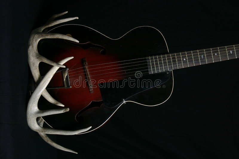 Download Chitarra acustica immagine stock. Immagine di guitar, antique - 203547
